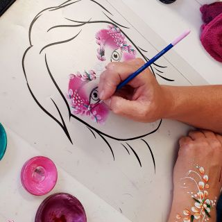 Body schmink studio cursus basis schminken princess bloemen beek en donk