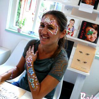 Body schmink studio cursus basis schminken princess en bloemen beek en donk