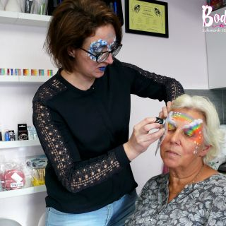 Body schmink studio cursus basis schminken rainbow beek en donk