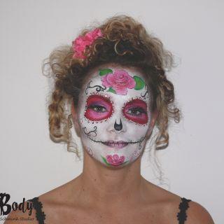 Body schmink studio face painting sugar skull carnaval