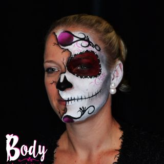 Body schmink studio face painting sugarskull halloween