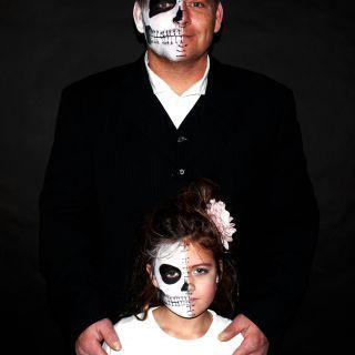 Body schmink studio face paintings carnaval skulls family