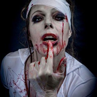 Body schmink studio halloween zombie nurse beek en donk 15