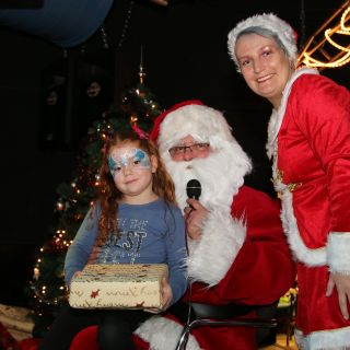 Body schmink studio princess met santa