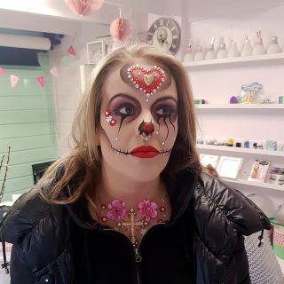 Body schmink studio psychedelic clown carnaval 2018 beek en donk