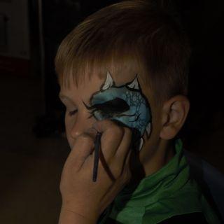 Body schmink studio roefeldag laarbeek eye design blue monster