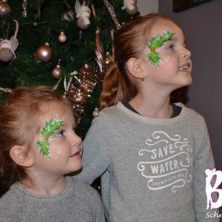 Body schmink studio schmink kerst met logo