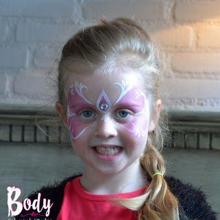 Body schmink studio schminken roze princess cafe thuis beek en donk