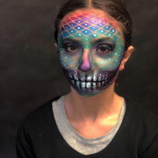 Body schmink studio sugarskull halloween beek en donk 8