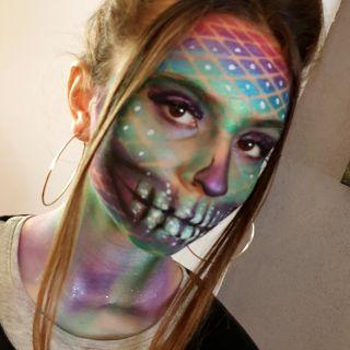 Body schmink studio sugarskull halloween beek en donk