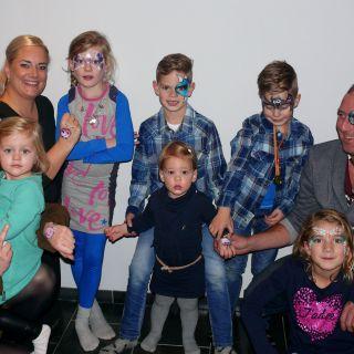 Body schmink studio kindefeest foto groep helmond