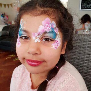 Body schmink studio kinderfeest bloemen one stroke helmond 2
