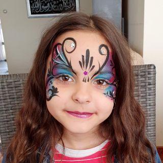 Body schmink studio kinderfeest butterfly helmond 3