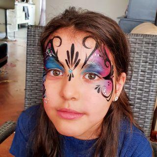 Body schmink studio kinderfeest butterfly helmond