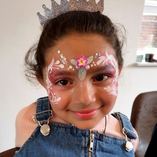Body schmink studio kinderfeest extra bling bling princess helmond