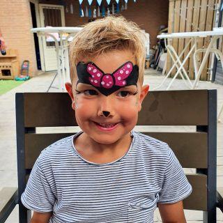 Body schmink studio kinderfeest minnie mouse eindhoven 2