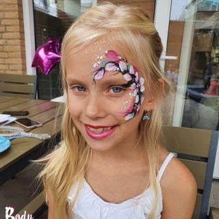 Body schmink studio kinderfeest modern bloemen eindhoven
