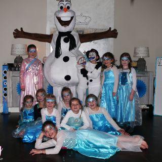 Body schmink studio kinderfeest thema frozen