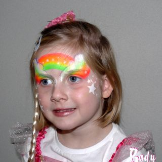 Body schmink studio kinderfeest thema princess rainbow wanrooij 2 l