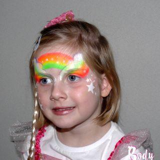 Body schmink studio kinderfeest thema princess rainbow wanrooij 2 l
