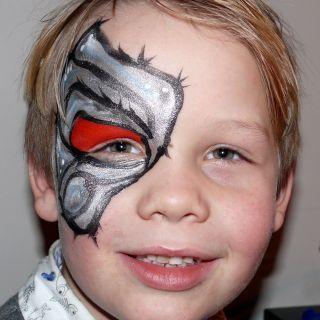 Body schmink studio kinderfeest zilver monster stiphout helmond logo