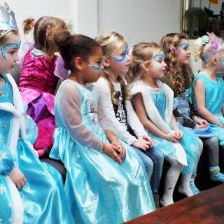 Body schmink studio schminken kinderfeest thema frozen helmond foto groep
