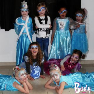 Body schmink studio schminken kinderfeest thema frozen helmond