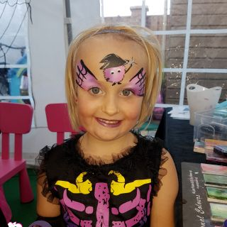 Body schmink studio schminken kinderfeest thema halloween wuppies logo