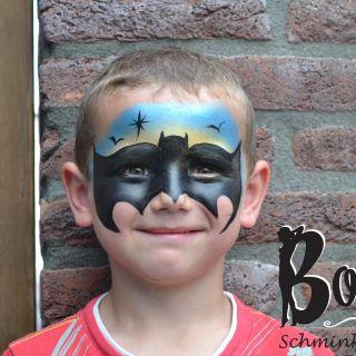 Body schminkstudio kinderfeest batman1