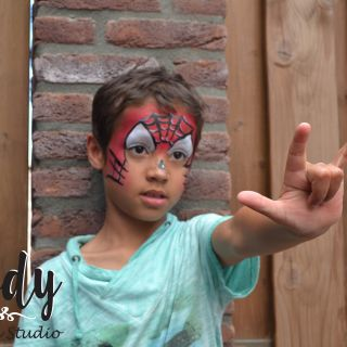 Body schminkstudio kinderfeest spider man2