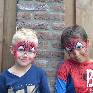 Body schminkstudio kinderfeest spider man3