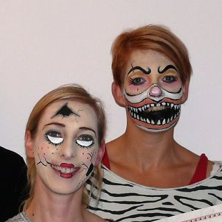 Body  schmink studio cursus thema halloween group