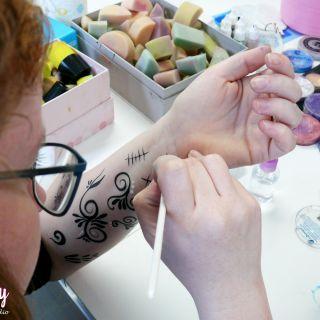 Body schmink studio cursus sugar skull beek en donk 3