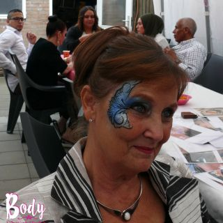Body schmink studio kinderfeest blue eye design helmond logo