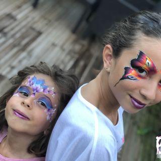 Body schmink studio vlinder en princess frankrijk