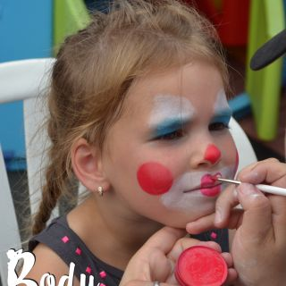 Body schminkstudio kinderfeest clown1