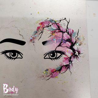 Body schmink studio workshop eyes design flowers beek en donk 3