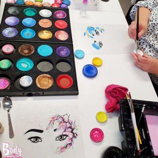 Body schmink studio workshop eyes design flowers beek en donk_1