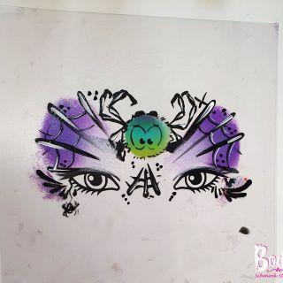 Body schmink studio workshop fun met de wuppies spider design 2