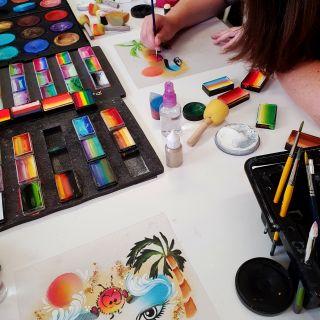 Body schmink studio workshop fun met de wuppies summer design_1