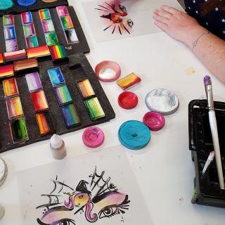 Body schmink studio workshop fun met de wuppies unicorn spiderweb design